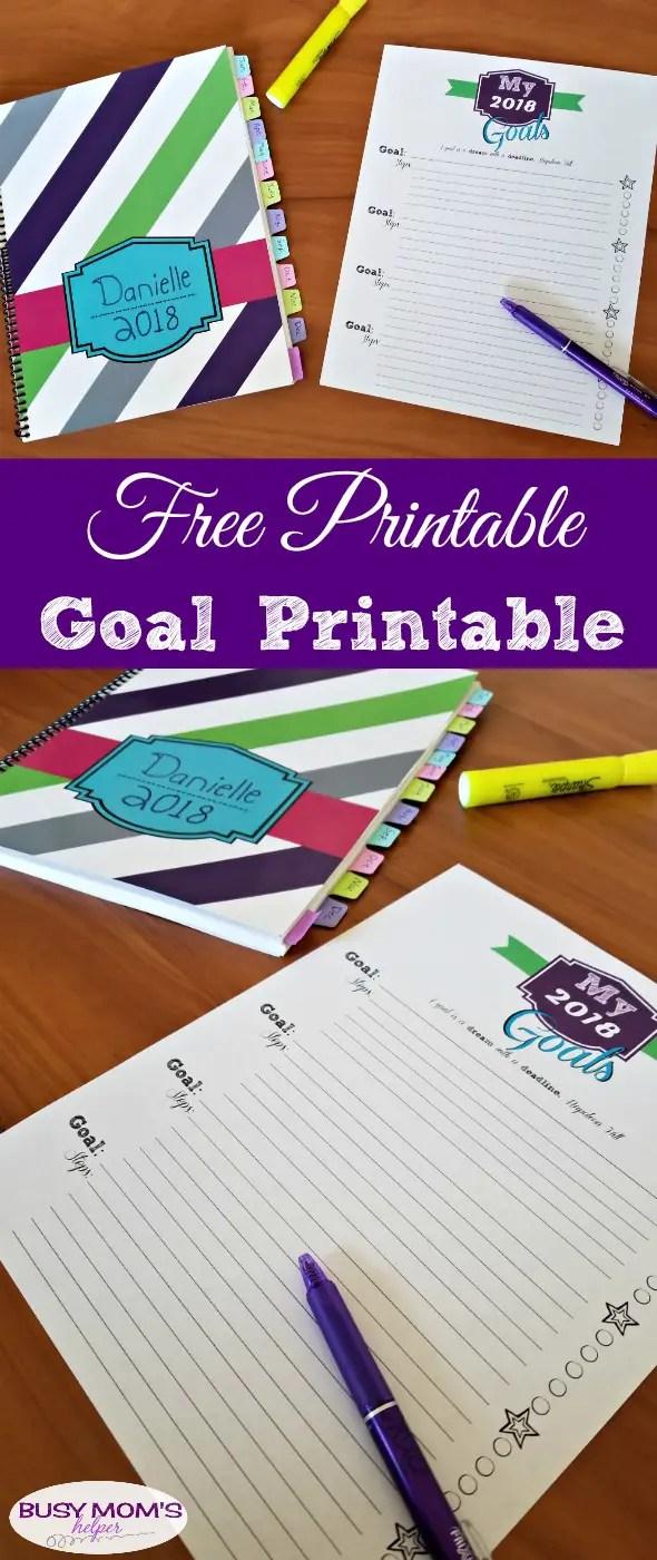 Free Printable Goal Printable #newyear #printable #freeprintable #goal #goals #goaltracker