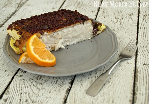 Blue Crusted Halibut: The Fish Even I Like / by Busy Mom's Helper #fish #recipe #seafood