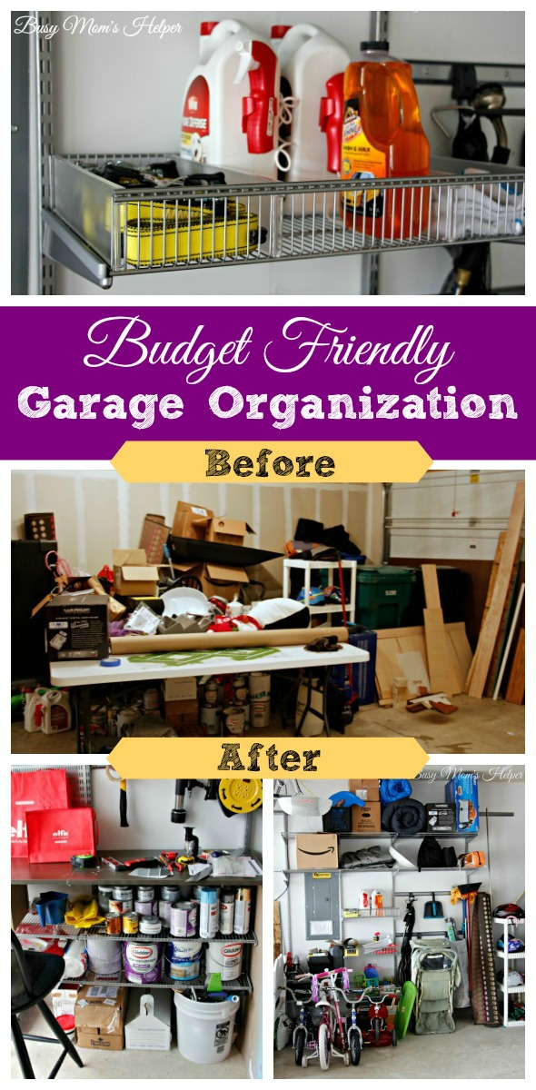 Budget Friendly Garage Organization / by Busy Mom's Helper
