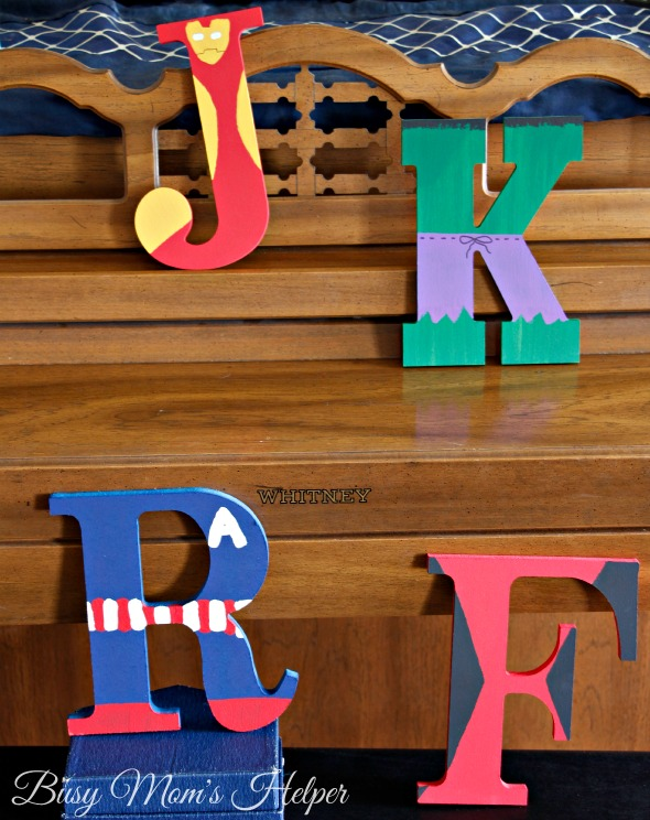 DIY Avenger Letters / by Busy Mom's Helper
