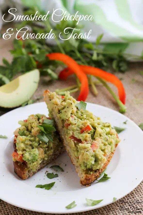 Chickpea Avocado Toast -vegetarian