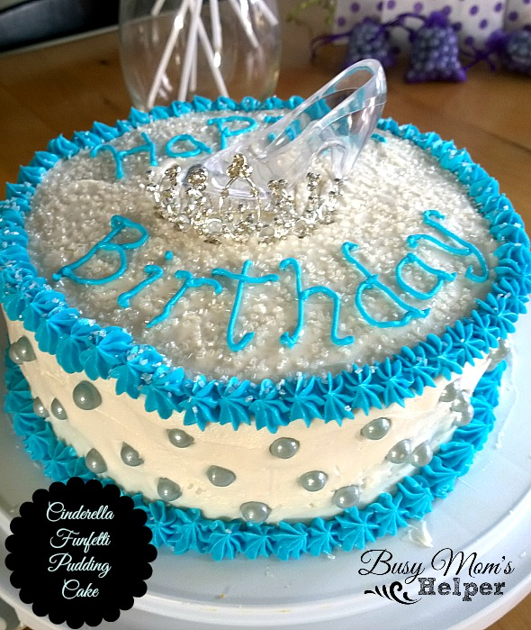 Cinderella Funfetti Pudding Cake by Nikki Christiansen for Busy mom's Helper
