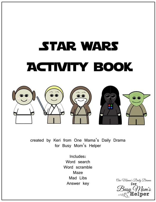 image about Star Wars Printable Activities named Star Wars Printable Match E book - Occupied Mothers Helper