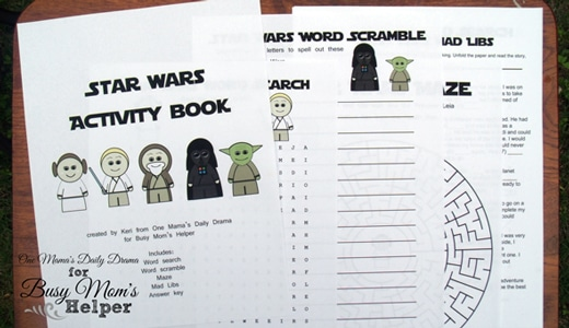graphic regarding Printable Activity Books called Star Wars Printable Match Reserve - Occupied Mothers Helper