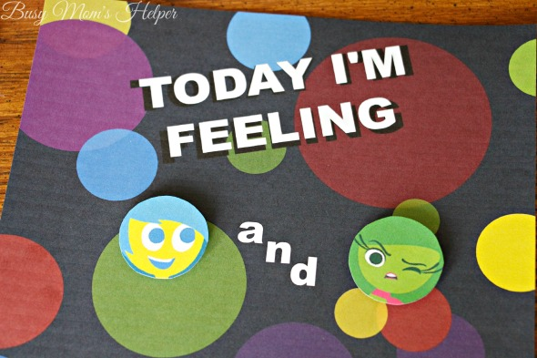 'Today I'm Feeling' Printable Emotion Chart / by Busy Mom's Helper / Teach your Kids all about Emotions with your favorite characters from Inside Out! #PlayNGrow #ad