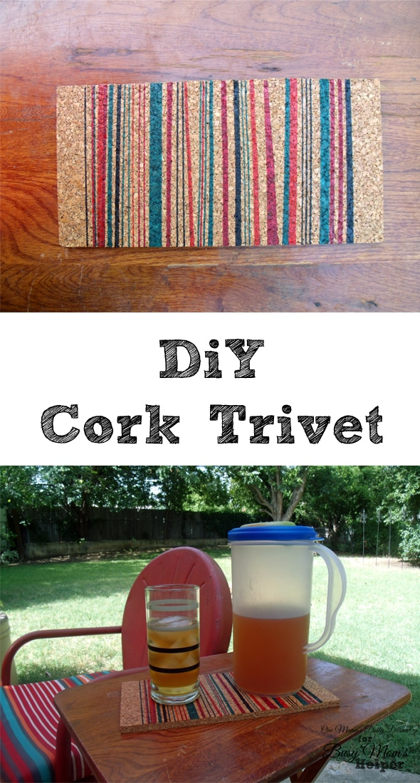 DiY Cork Trivet | One Mama's Daily Drama for Busy Mom's Helper