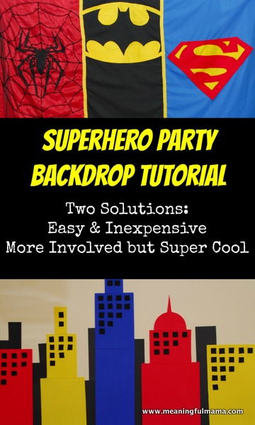 Superhero Backdrops / by Meaningful Mama / Round up by Busy Mom's Helper