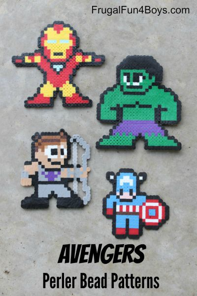 Avengers Perler Bead Patterns / by Frugal Fun 4 Boys / Round up by Busy Mom's Helper