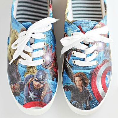 DIY Avengers Shoes / by Comic Con Family / Round up by Busy Mom's Helper