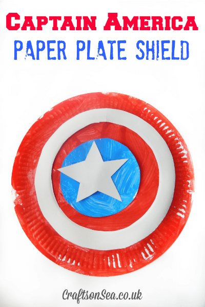 Captain America Paper Plate Shield / by Crafts on Sea / Round up by Busy Mom's Helper