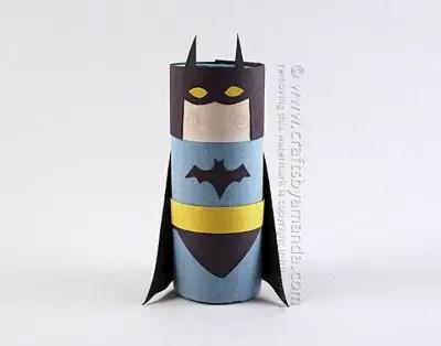 Cardboard Tube Batman / by Crafts by Amanda / Round up by Busy Mom's Helper