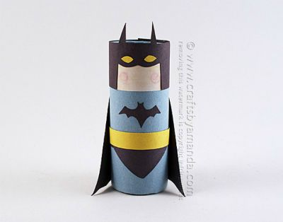 Cardboard Tube Batman / by Crafts by Amanda / Round up by Busy Mom's Helper