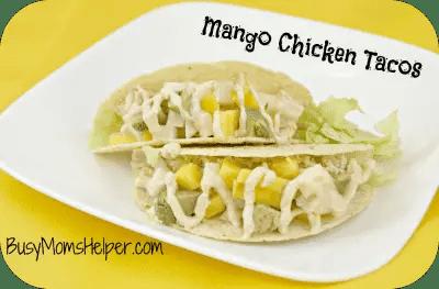 Mango Chicken Tacos by Busy Mom's Helper