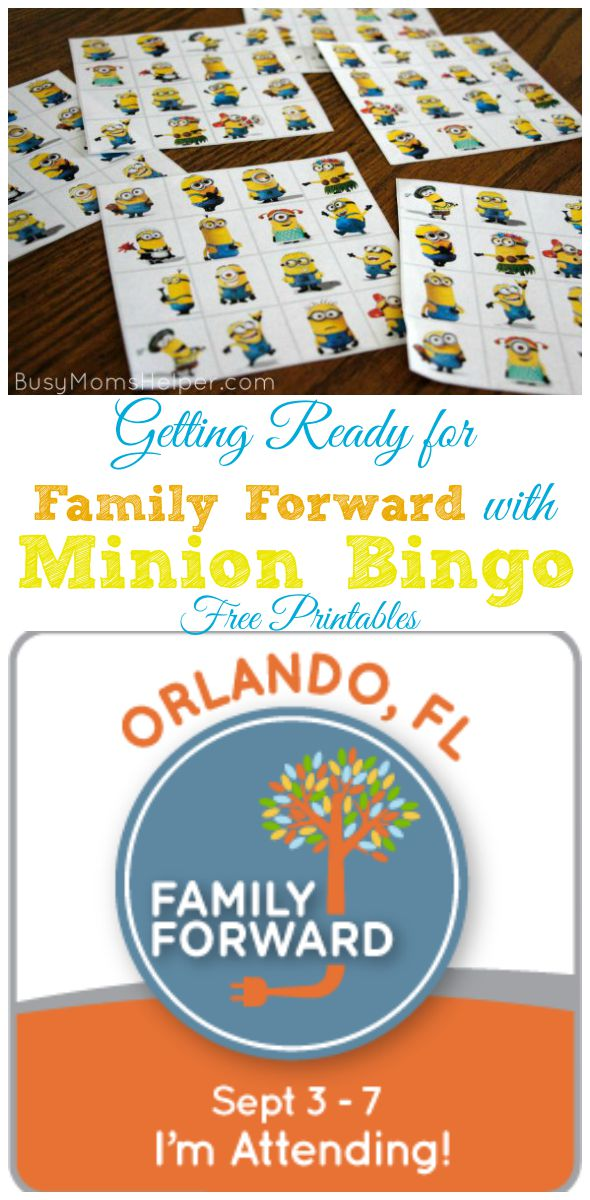 Getting Ready for Family Forward with Minion Bingo Free Printables / by Busy Mom's Helper