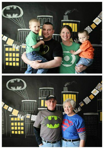 Superhero Photo Booth Backdrop / by Pear Tree Greetings / Round up by Busy Mom's Helper