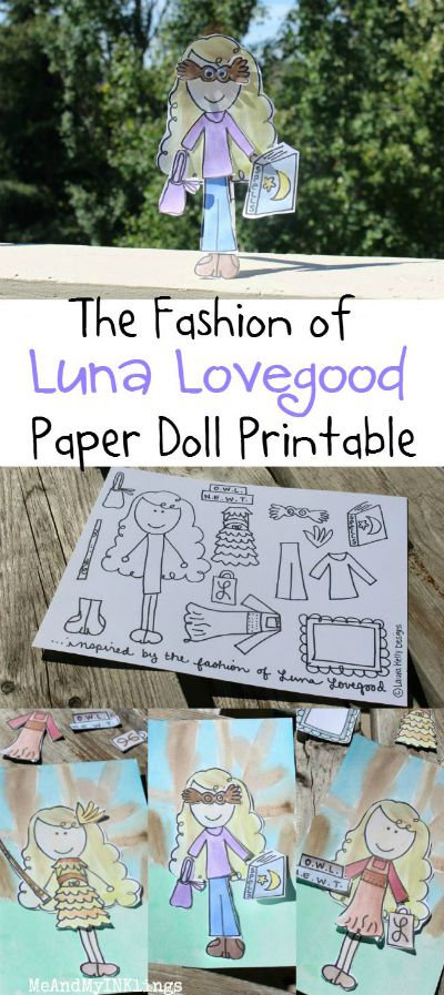 Luna Lovegood Paper Doll Printable / by Me and My Inklings / Round up by Busy Mom's Helper