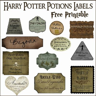 Professor Snape's Potion Labels / by Over the Big Moon / Round up by Busy Mom's Helper