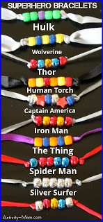 Superhero Bracelets / by Activity Mom / Round up by Busy Mom's Helper