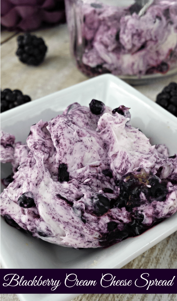 Blackberry Cream Cheese Spread - elegant with crostini or crackers