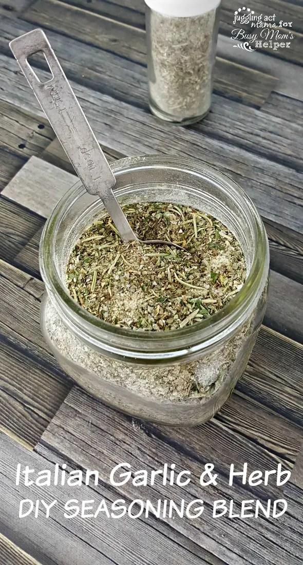 Italian Garlic & Herb DIY SEASONING BLEND