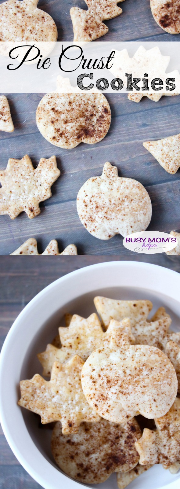 Pie Crust Cookies / a Perfect Holiday Dessert or Snack / Great for Leftover Pie Crust!