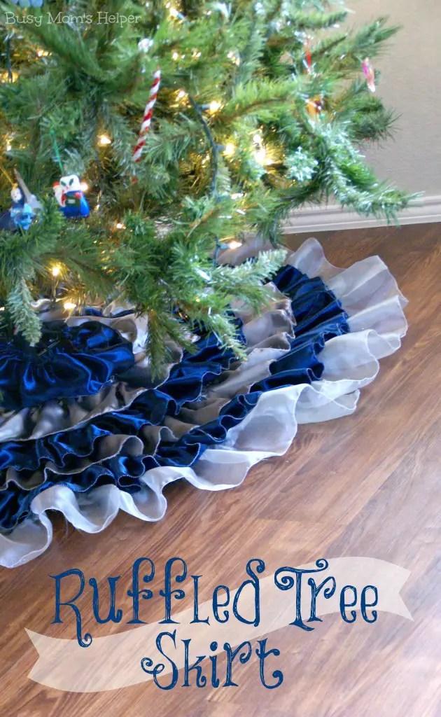 DIY Ruffled Tree Skirt / by BusyMomsHelper.com