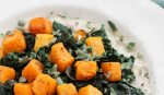 Gluten-Free Savory Oatmeal with Roasted Butternut Squash and Sautéed Dinosaur Kale l Steph in Thyme for Busy Mom's Helper