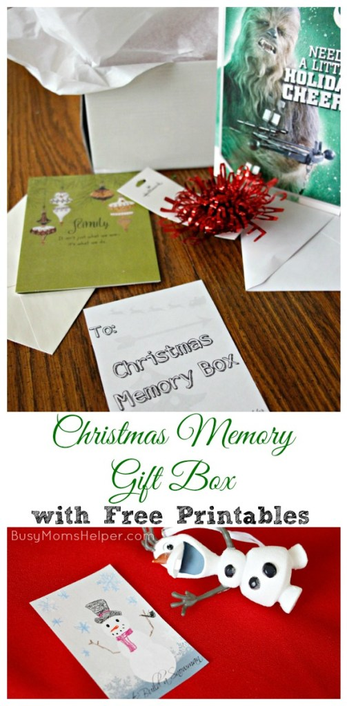Christmas Memory Gift Box with Free Printables / by BusyMomsHelper.com #SendHallmark #ad