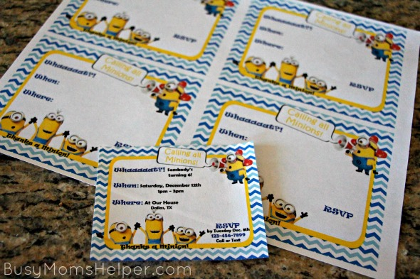 Minion Party with Free Printables / by BusyMomsHelper.com #MinionsMovieNight #ad