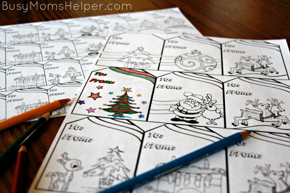 Free Printable Coloring Gift Tags / by BusyMomsHelper.com