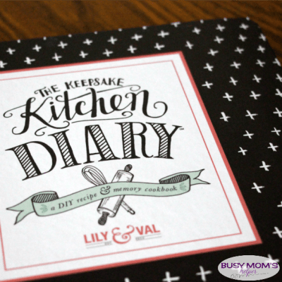 The Keepsake Kitchen Diary / a perfect heirloom cookbook / recipe book / review by BusyMomsHelper.com