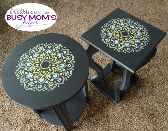Stenciled Tables