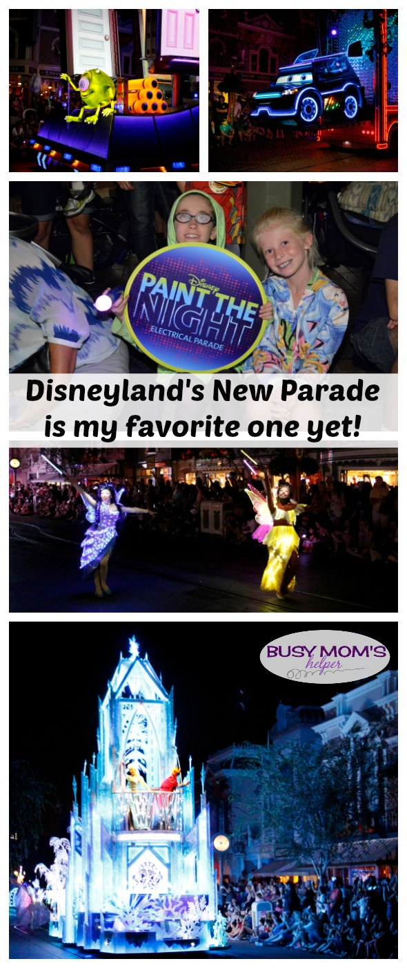 Disney's New Paint the Night Parade is my favorite Disneyland parade yet! by BusyMomsHelper.com Our experience with Paint the Night Parade with kids was fantastic!
