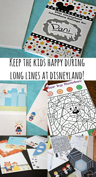 No more boring lines at Disneyland - grab our 2016 'Unofficial' Disneyland Activity & Autograph book to keep the kids happily entertained!