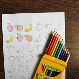 Printable fruit coloring page for kids and adults | One Mama's Daily Drama for Busy Mom's Helper