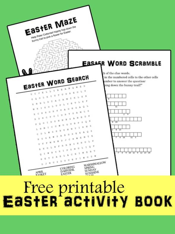 Printable Easter activity book | One Mama's Daily Drama