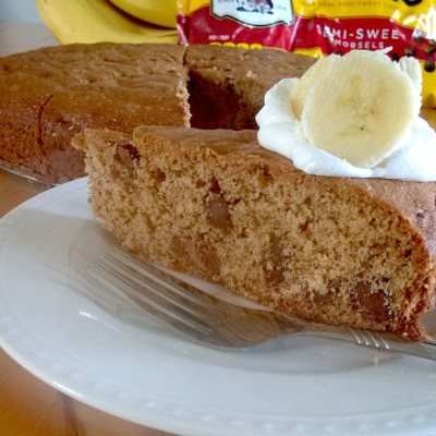 Banana Chocolate Chip Cake by Nikki Christiansen for Busy Mom's Helper