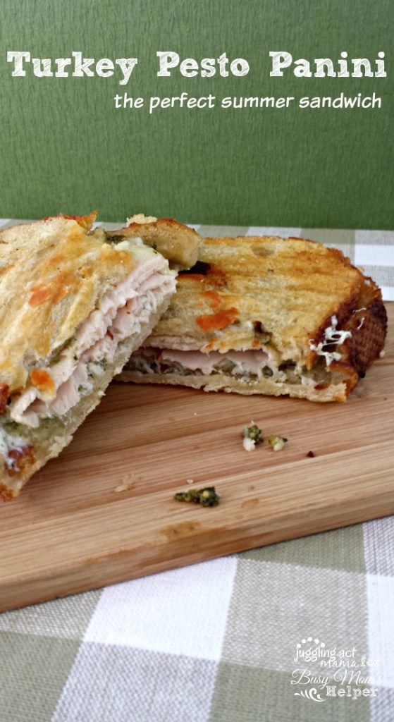 A Turkey Pesto Panini is delicious summer sandwich