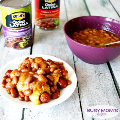 Hot Dog Twists with Beans / by BusyMomsHelper.com / This easy recipe will please the whole family, especially with #CocinaLatinaBeans #ad