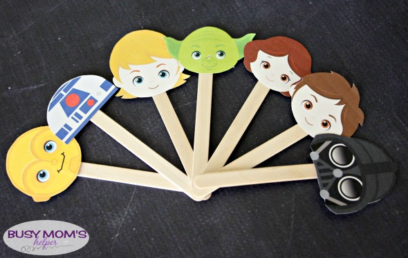 photograph regarding Star Wars Printable Crafts titled Star Wars Puppets Printable - Active Mothers Helper