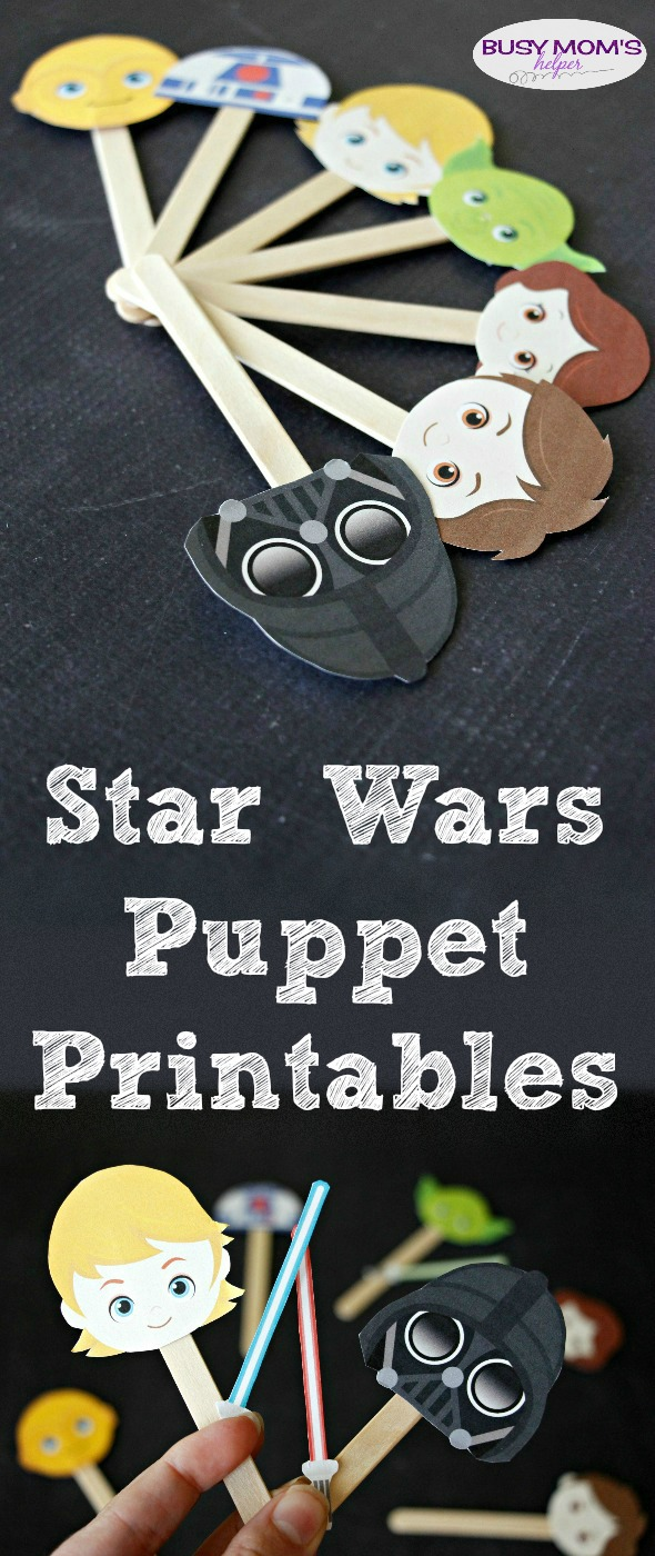 photo regarding Star Wars Printable Crafts called Star Wars Puppets Printable - Occupied Mothers Helper