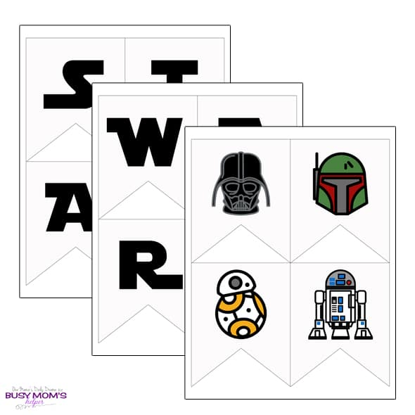 graphic regarding Star Wars Clip Art Free Printable titled Printable Star Wars Banner complete alphabet + icons - Chaotic