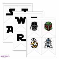 Printable Star Wars Banner {full alphabet + icons}