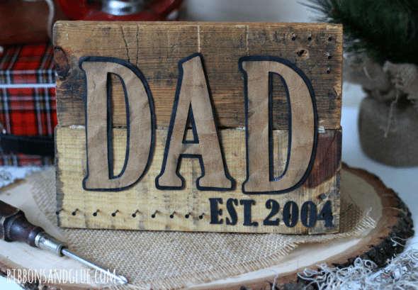 Dad Pallet Sign / fun father's day craft / easy gift for dad