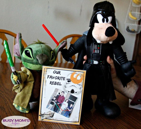 Our Favorite Rebel Father's Day Printable Card or Star Wars Photo Frame / by BusyMomsHelper.com / Great gift for your Star Wars Dad! Star Wars Rebels unite for this super fun printable Star Wars picture frame or Star Wars card
