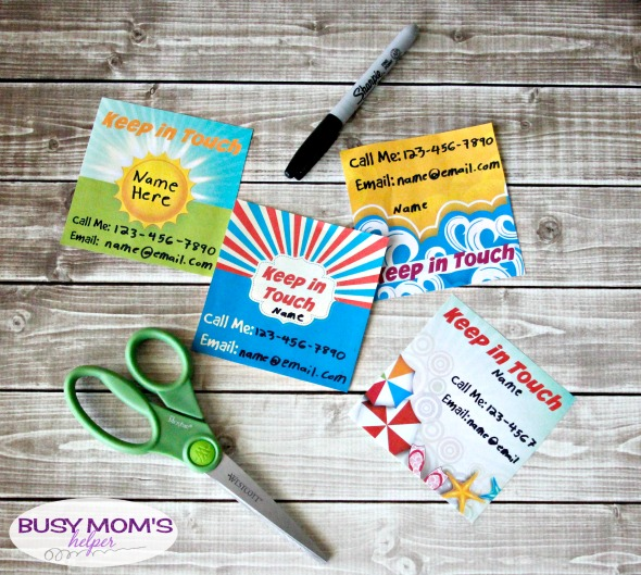 Summer Break 'Keep in Touch' Printables for School Kids / by BusyMomsHelper.com / Make it easier for your kids to stay in touch with their friends & plan playdates this summer vacation