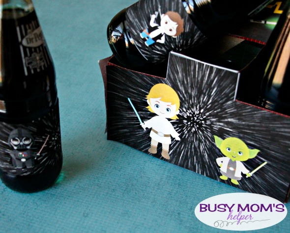 Father's Day Star Wars Bottle Gift Printable Set / by BusyMomsHelper.com / a Great Star Wars Dad Gift!