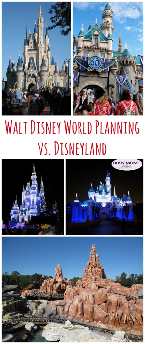 Walt Disney World Planning vs. Disneyland / by BusyMomsHelper.com / How planning a WDW vacation is different than Disneyland planning