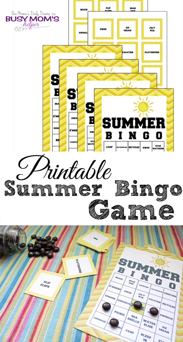 I adore this Summer BINGO Game Printable by One Mama's Daily Drama for Busy Mom's Helper! It's a fun and eduational way to entertain the kids this summer!