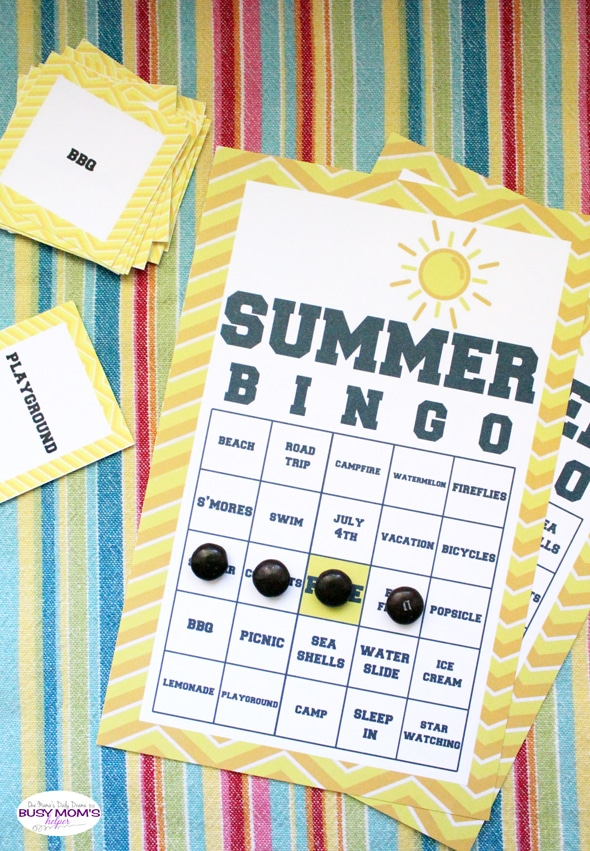 Summer BINGO Game Printable | One Mama's Daily Drama for Busy Mom's Helper